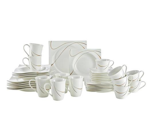 SERVIS KOMBINOVANÝ, 36dílné, porcelán - bílá/hnědá, Basics, keramika - Ritzenhoff Breker