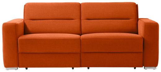SCHLAFSOFA in Textil Orange - Orange, KONVENTIONELL, Textil/Metall (202/86/92cm) - Sedda