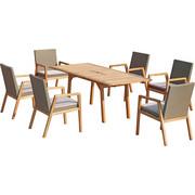 GARTENSET  13-teilig - Taupe/Akaziefarben, Design, Holz/Kunststoff - AMBIA GARDEN