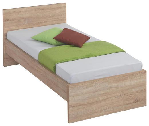 Bett 90 cm   x 200 cm   in Holzwerkstoff Sonoma Eiche - Sonoma Eiche, Design, Holzwerkstoff (90/200cm) - Carryhome