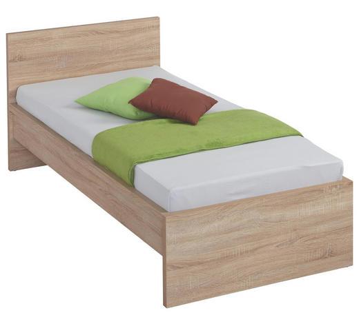 BETT 90/200 cm  in Sonoma Eiche - Sonoma Eiche, Design, Holzwerkstoff (90/200cm) - Carryhome