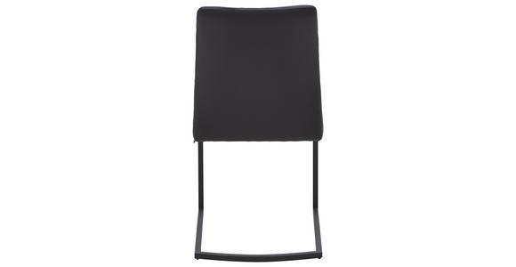SCHWINGSTUHL Echtleder Anthrazit, Dunkelgrau  - Dunkelgrau/Anthrazit, Design, Leder/Metall (48,5/87,5/60cm) - Dieter Knoll