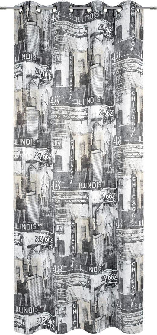 ÖSENSCHAL  black-out (lichtundurchlässig)  135/245 cm - Grau, LIFESTYLE, Textil (135/245cm) - Esposa