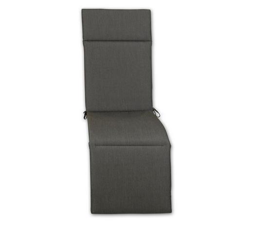 RELAXSESSELAUFLAGE Uni  - Graphitfarben, Design, Textil (50/164/4cm)