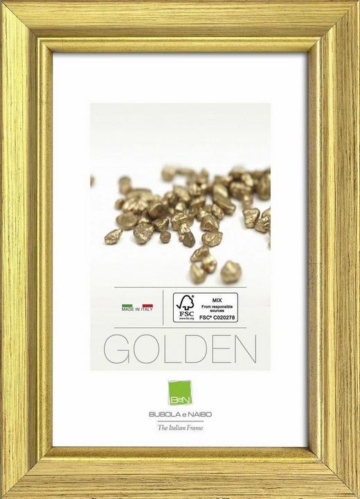 RAHMEN in Goldfarben - Goldfarben, Basics, Glas/Holz (52,6cm)