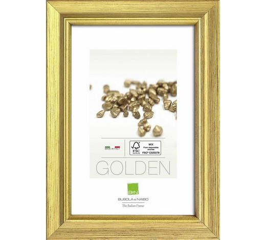 RAHMEN in Goldfarben  - Goldfarben, Basics, Glas/Holz (31,6cm)
