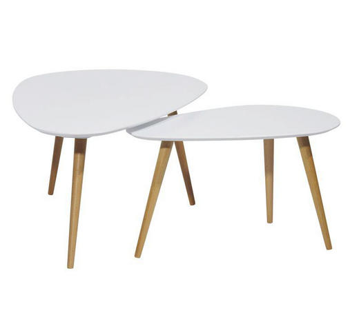 COUCHTISCH in Holz, Holzwerkstoff 116/75/66/43/45/39 cm - Braun/Weiß, Design, Holz/Holzwerkstoff (116/75/66/43/45/39cm) - Carryhome