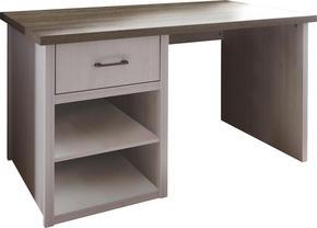 SKRIVBORD - vit/färg tryffelek, Lifestyle, metall/träbaserade material (141/77/81cm) - Carryhome