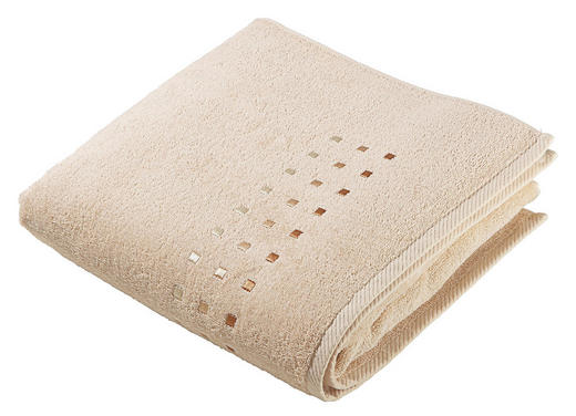 DUSCHHANDDUK - beige, Klassisk, textil (70/140cm) - Esposa