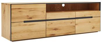 LOWBOARD Asteiche teilmassiv Eichefarben  - Eichefarben, KONVENTIONELL, Holz/Holzwerkstoff (181/60/46,5cm) - Linea Natura