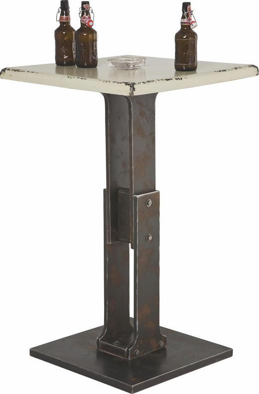 BARTISCH quadratisch Rostfarben, Weiß - Rostfarben/Weiß, Design, Holzwerkstoff (65/65/107cm) - KARE-Design