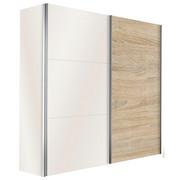 SKŘÍŇ S POSUVNÝMI DVEŘMI, bílá, barvy dubu - bílá/barvy dubu, Design, kov/kompozitní dřevo (150/216/68cm) - Hom`in