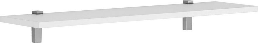 WANDBOARD Weiß  - Weiß, Design, Metall (100/2,2/25cm) - Moderano