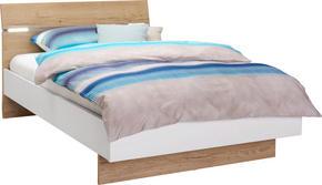 SÄNG - vit/ekfärgad, Design, träbaserade material (120/200cm) - Hom`in
