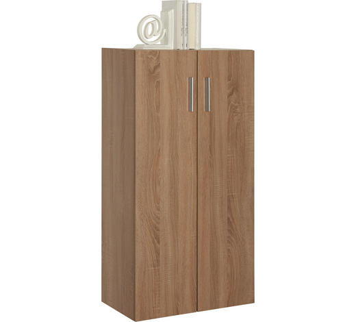 KOMODA - barvy dubu/černá, Design, kompozitní dřevo/umělá hmota (60/115,2/33,6cm) - Carryhome