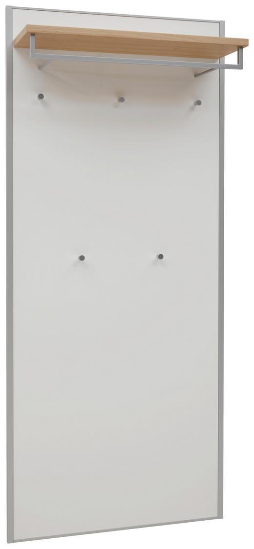 GARDEROBENPANEEL Eiche furniert lackiert Eichefarben, Weiß - Eichefarben/Weiß, MODERN, Holz (80/183/27cm) - Dieter Knoll