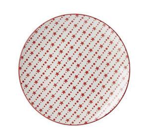 MATTALLRIK - vit/röd, Basics, keramik (26cm) - Landscape