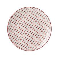 TALÍŘ JÍDELNÍ - bílá/červená, Basics, keramika (26cm) - Landscape