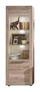 VITRÍNA - bílá/barvy stříbra, Moderní, dřevěný materiál/umělá hmota (67/201/37cm) - CARRYHOME