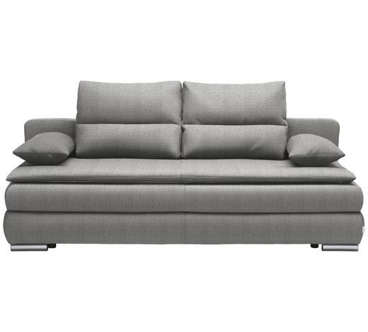 SCHLAFSOFA in Textil Hellgrau  - Silberfarben/Hellgrau, KONVENTIONELL, Kunststoff/Textil (207/94/90cm) - Venda
