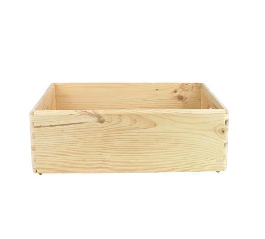 BOX, dřevo - Natur, dřevo (40/30/14cm)