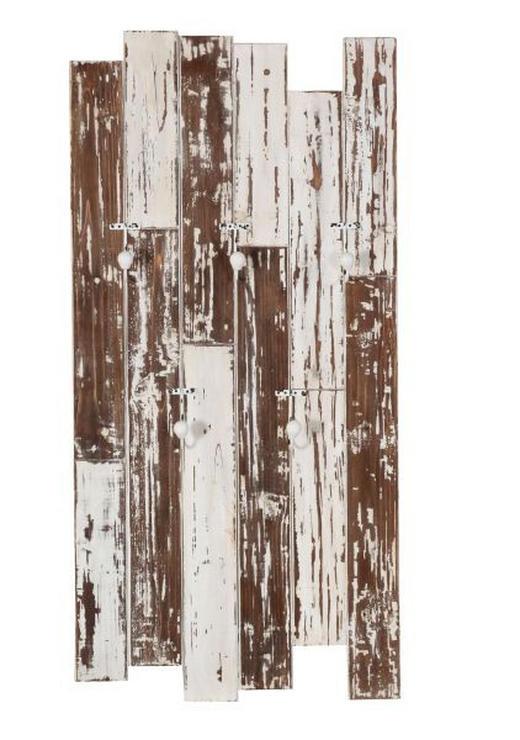 WANDGARDEROBE Tanne massiv Weiß - Weiß, LIFESTYLE, Holz (60/120/17cm)