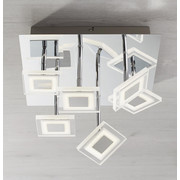 LED-DECKENLEUCHTE   - Chromfarben/Nickelfarben, Design, Glas/Metall (35/21/35cm) - Novel