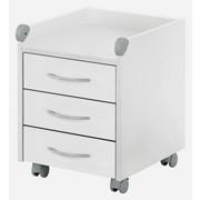ROLLCONTAINER Weiß - Silberfarben/Weiß, KONVENTIONELL (42/54/46cm) - KETTLER HKS
