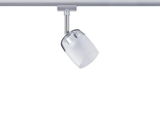 SCHIENENSYSTEM-STRAHLER - Chromfarben/Klar, Design, Glas/Metall (7,4/12,8/11,5cm) - Paulmann