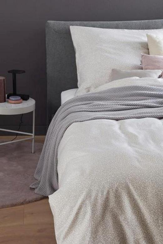 BETTWÄSCHE Makosatin Beige, Creme 135/200 cm - Beige/Creme, Textil (135/200cm) - SCHÖNER WOHNEN