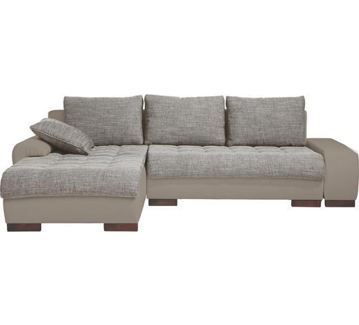 WOHNLANDSCHAFT in Textil Braun, Grau  - Wengefarben/Braun, Design, Holz/Textil (198/278cm) - Carryhome