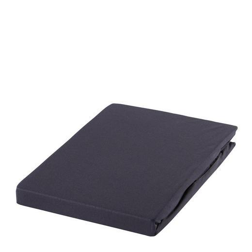 SPANNBETTTUCH Zwirn-Jersey Dunkelgrau bügelfrei, für Wasserbetten geeignet - Dunkelgrau, Basics, Textil (150/200cm) - ESTELLA