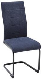 SCHWINGSTUHL in Metall, Textil Grau, Schwarz - Schwarz/Grau, Design, Textil/Metall (43/99/62cm) - Carryhome
