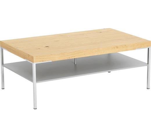 COUCHTISCH in Holz, Metall, Holzwerkstoff 110/65/42 cm   - Nussbaumfarben/Weiß, KONVENTIONELL, Holz/Holzwerkstoff (110/65/42cm) - Moderano