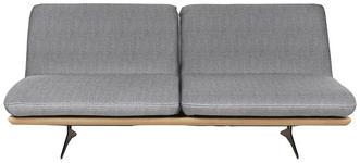 SCHLAFSOFA in Holz, Textil Hellgrau - Hellgrau/Schwarz, Design, Holz/Textil (204/92/90cm) - Dieter Knoll