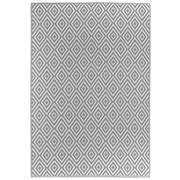 OUTDOORTEPPICH  In-/ Outdoor  Grau, Weiß - Weiß/Grau, Trend, Textil (90/150cm) - Boxxx
