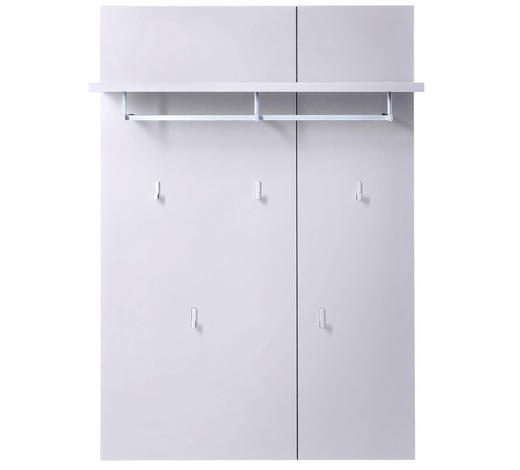 GARDEROBENPANEEL 80/116/30 cm - Weiß, Design, Holzwerkstoff/Metall (80/116/30cm) - Xora