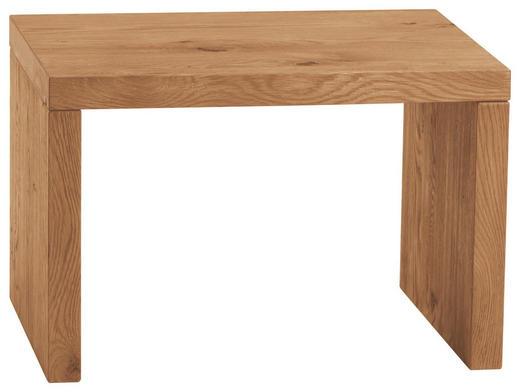 NACHTKÄSTCHEN Wildeiche massiv gebürstet, geölt Naturfarben - Naturfarben, Design, Holz (48/32/38cm) - Hasena