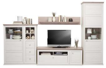 OBÝVACÍ STĚNA - bílá/šedá, Lifestyle, kov/dřevěný materiál (329,4/209,2/50cm) - HOM IN