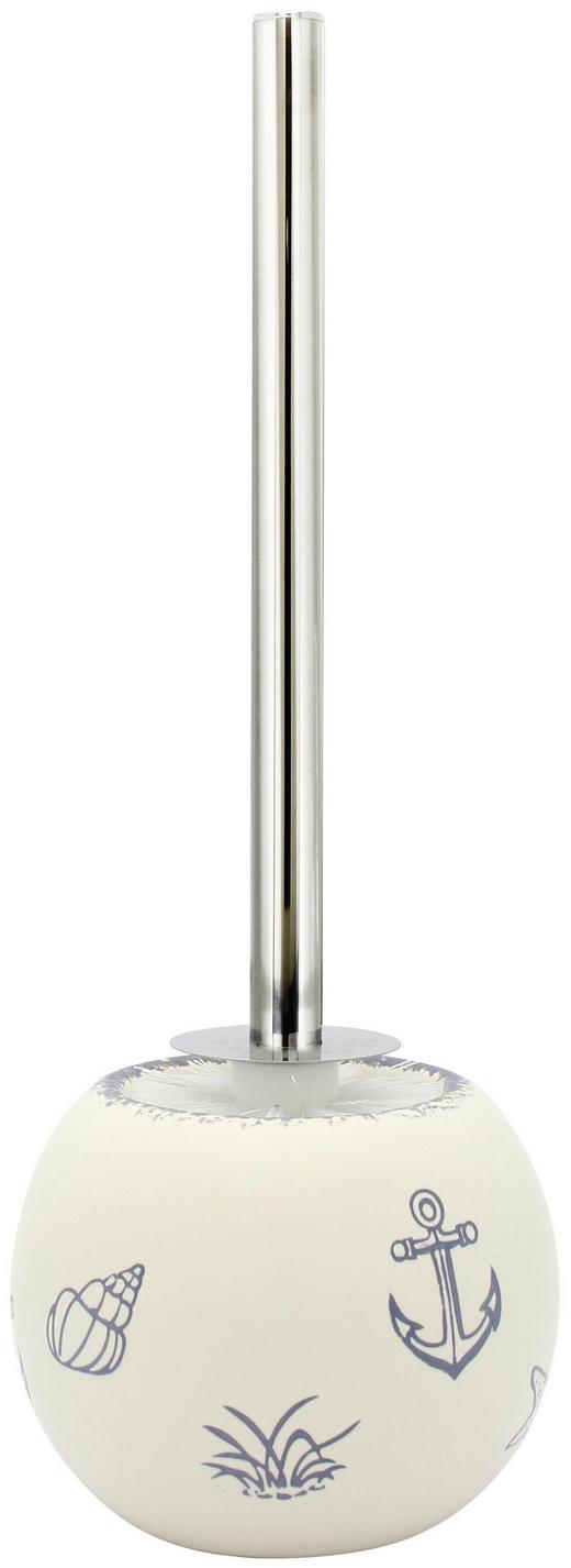 WC SADA - bílá/modrá, Basics, umělá hmota/keramika (14,5/39/14,5cm) - CELINA