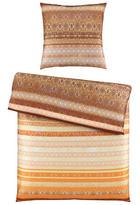 BETTWÄSCHE Satin Braun, Orange 135/200 cm - Braun/Orange, Design, Textil (135/200cm) - Esposa