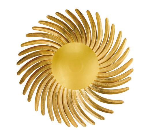 LED-WANDLEUCHTE - Goldfarben, LIFESTYLE, Metall (80cm)