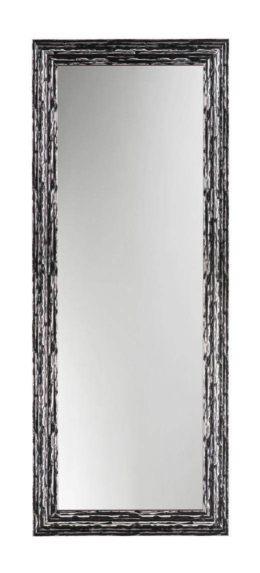 WANDSPIEGEL - Silberfarben/Schwarz, Design, Glas/Holz (183/73/2,5cm)