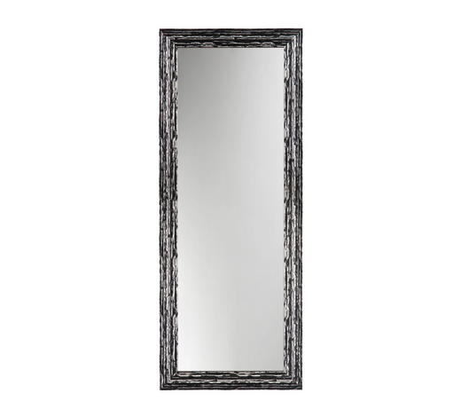 WANDSPIEGEL - Silberfarben/Schwarz, Design, Glas/Holz (73/183/2,5cm)