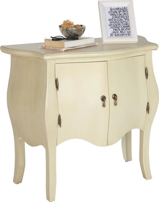 KOMMODE Tanne massiv Weiß - Weiß, Trend, Holz/Metall (80/72/38cm) - Ambia Home