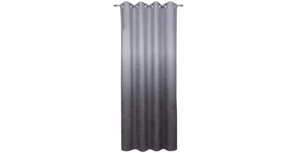 ÖSENVORHANG blickdicht  - Grau, KONVENTIONELL, Textil (140/245cm) - Esposa