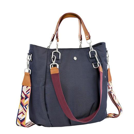WICKELTASCHE - Blau, Basics, Textil (48,5/19/38cm) - Lässig