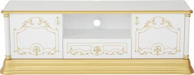 TV-ELEMENT 162/55/41 cm  - Goldfarben/Weiß, LIFESTYLE, Holzwerkstoff/Kunststoff (162/55/41cm) - Cantus