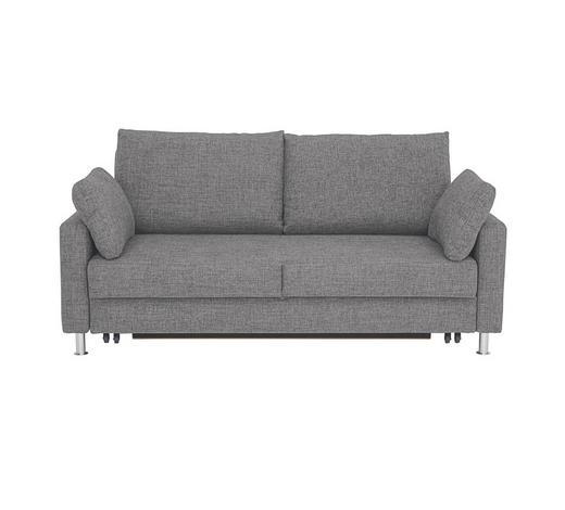 SCHLAFSOFA Webstoff Grau - Chromfarben/Grau, KONVENTIONELL, Textil/Metall (186/90/95cm) - Bali