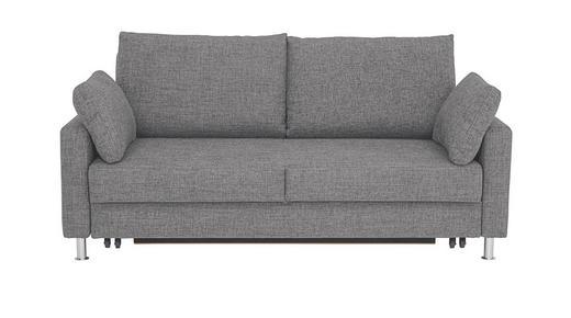 SCHLAFSOFA Webstoff Grau - Chromfarben/Grau, KONVENTIONELL, Textil/Metall (186/90/95cm)